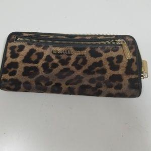 Michael Kors Cheetah Zipper Wallet